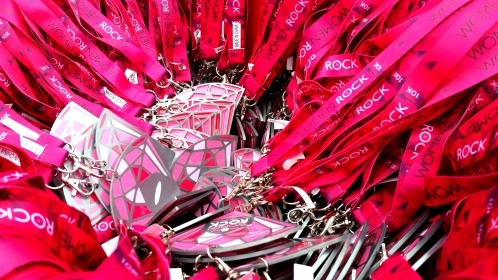 Medals at Women Rock 10K. Saint Paul, 2015.